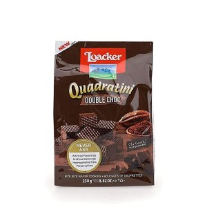 Loacker Quadratini 双重巧克力威化饼干8.82oz