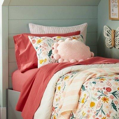 Pillowfort™ 纯色纯棉床具套装