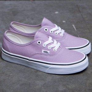 $50(原价$99.95)Vans 薰衣草紫复古帆布鞋特价 大码福利