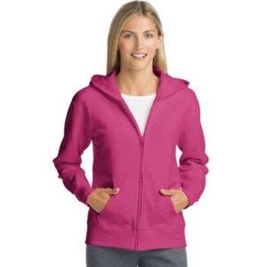 HanesComfortSoft™ EcoSmart® Women's Full-Zip Hoodie Sweatshirt