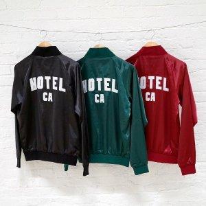 $65 加州新晋潮牌Hotel 1171 绸面棒球外套