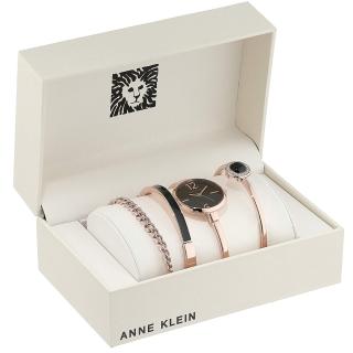 直邮好价¥414Anne Klein 施华洛世奇水晶 手表手镯四件套