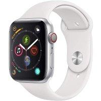 Apple Watch Series 4 (GPS + Cellular, 44mm) 白色运动表带