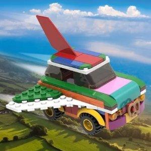 VIP满额加送封面款小飞车LEGO官网 十月热卖 电吉他 问号块 推土机上市!打字机现货