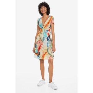 DesigualV-neck Arty Print Dress - Luana | Desigual.com