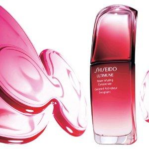 最高送价值$117的8件好礼Shiseido 红腰子系列满$75享优惠