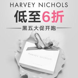 低至6折+晒单抽奖 断根靴£396即将截止:Harvey Nichols 黑五大促+送£250代金券 大王、Off White全参加