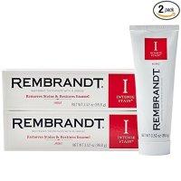 Rembrandt 强效美白去渍牙膏 薄荷味 100g(2盒)