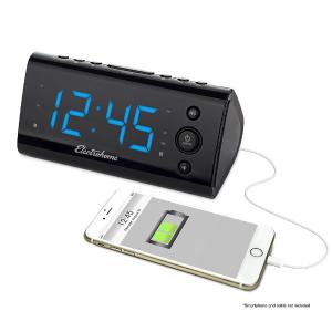 $28.96(原价$39.99)限今天:叫不醒懒人必备,双响铃可充手机闹铃电子表