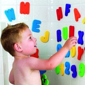 $4.06(原价$7.47)史低价:Munchkin 11020 浴室字母数字贴贴乐