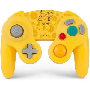 $27.83 (原价$49.99)PowerA GameCube 无线手柄 皮卡丘/太阳伊布 双色可选