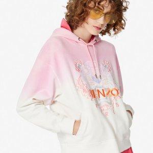 5折起 €105收樱花粉虎头上衣KENZO官网 冬季大促 低价入虎头、大眼睛 百搭帅气