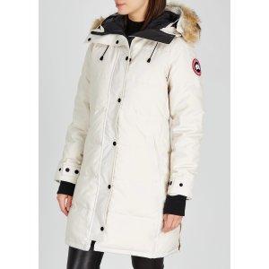 Canada Goose美国定价$995Shelburne 白色羽绒服