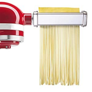 Amazon.com: 3-Piece Pasta Roller/Cutter Set Attachment fits KitchenAid Stand Mixers,Stainless Steel,Mixer Accessory by Gvode: Kitchen & Dining