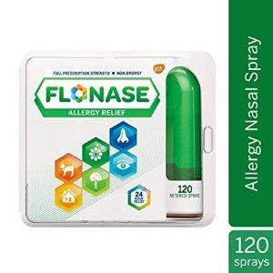 Flonase Allergy Relief Nasal Spray, 24 Hour Non-Drowsy, 120 Sprays, 0.54 Fl Oz