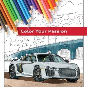 免费Audi 奥迪官方填色书下载版