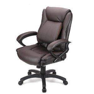 $99.99(原价$149.99) 看着就很舒服Moustache 办公椅 可调节腰部支撑 棕色黑色可选
