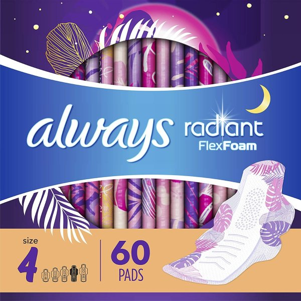 Radian 4号夜用卫生巾 3盒装60片