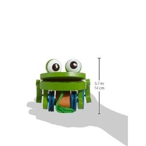 木质小青蛙牵绳玩具