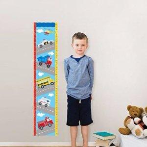 $17.21(原价$28)WallPops WPG0622 交通运输图案儿童量身高墙上贴纸