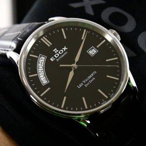 $299 (原价$1575)黒五价:Edox  Les Vauberts 系列机械时装男表双十二热卖