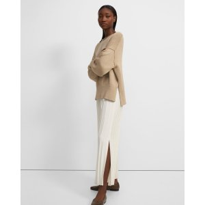 TheoryWide Ribbed Pant in Empire Wool