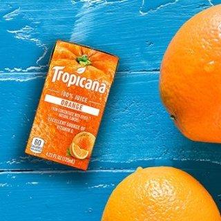 44盒装低至$11.72 一盒只需$0.26Tropicana 100% 果汁特惠 含维他命C