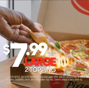 $7.99Pizza Hut Large 2-topping Pizza for