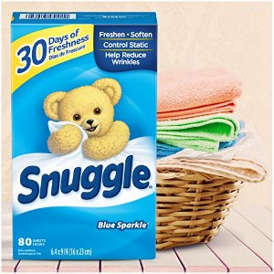 $2.84Snuggle Fabric Softener Dryer Sheets, Blue Sparkle, 80 Count