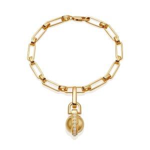 MissomaPave Sphere Pendant Aegis Chain Bracelet