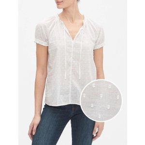 GapShort Sleeve Tie-Front T-Shirt