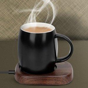 木纹款€22.99 咖啡再也不会冷天凉了 放下冰可乐 该喝热饮啦 恒温杯垫你可以拥有