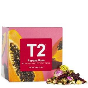 T2 tea木瓜玫瑰茶