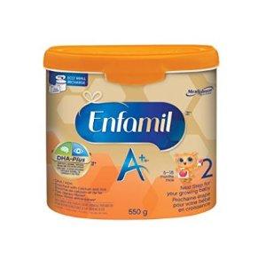 $29.44包邮(原价$32.99)Enfamil A+ 美赞臣二段婴儿配方奶粉 550克