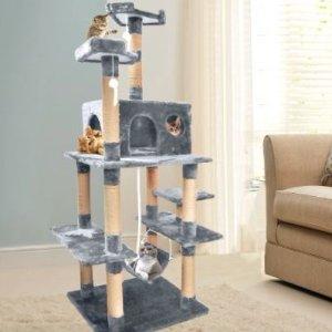 $99 包邮Catch官网 1.83m 灰色猫爬架 热卖