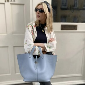 BB Bag California Sky Blue Leather Bag for Women