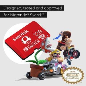 低至5折,数字版游戏必备SanDisk 蘑菇配色、星星配色 microSDXC 存储卡