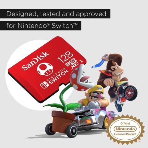 低至5折 数字版游戏必备SanDisk 蘑菇配色、星星配色 microSDXC 存储卡