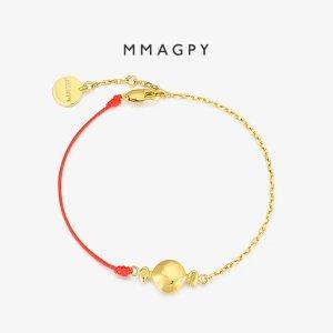 mmagpy糖果红绳 925银镀 18K金