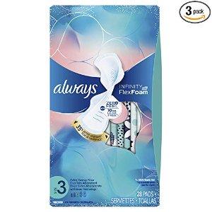 $15.36 (原价$21.75)新包装 Always Infinity 液体卫生巾 日用量多型 84片