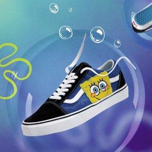 新人8折 €32收棋盘格T恤Vans x Spongebob 海绵宝宝联名 滑板鞋、卫衣都有 童趣满满