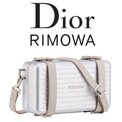 单款4色强强联手 预计售价£1900DIOR X RIMOWA 胶囊行李单肩包 现已释放