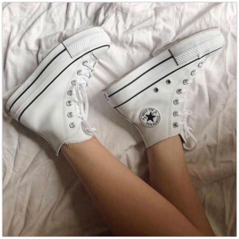 婚礼当天穿厚底球鞋+纱裙帅爆Converse 推出「新娘鞋」系列
