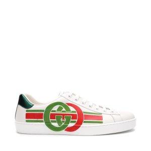 Gucci男士小白鞋