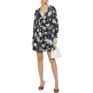 Alice + OliviaHannah floral-print sateen mini wrap dress