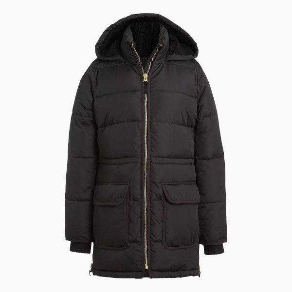 厚实棉服外套