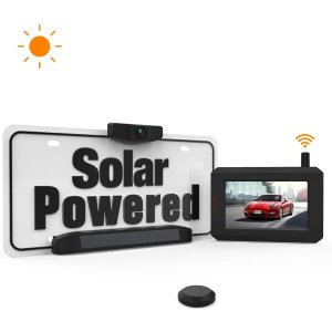 Solar Wireless Backup Camera with Stable Digital Signal