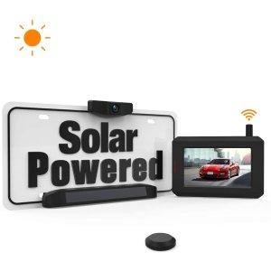 無線太陽能廣角倒車攝像頭 帶高清屏幕