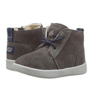 $20+包邮(会员)UGG 儿童真皮踝靴,侧面有拉链