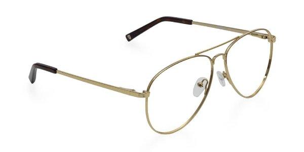 金色金属细边眼镜框
